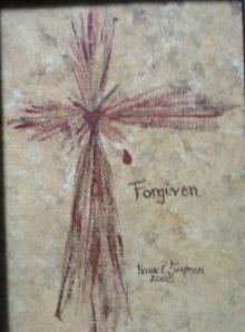 Forgiven Cross Painting KSimpson