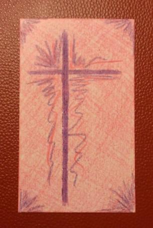 Purple Lent Cross