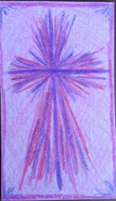 Purple Red Splash Cross