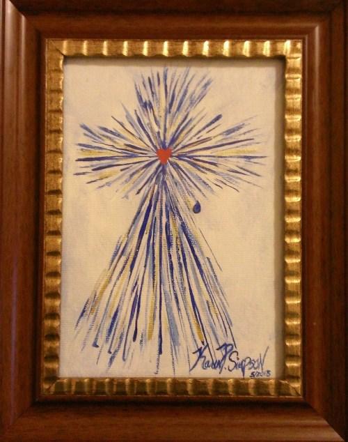 Blue Splash Cross of Christ