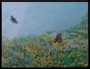 Black Eyed Susan Meadow Painting KPS